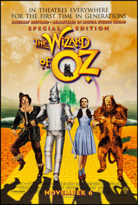 """The Wizard of Oz (MGM, R-1998). One Sheet (27"""" X 40"""") DS Advance. Fantasy"""