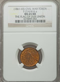 Civil War Patriotics, 1863 First in War, First in Peace, MS64 Brown NGC, Fuld-174/272a;Undated The Flag of Our Union MS65 Red and Brown NGC, Fuld-2...(Total: 3 tokens)