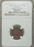 Civil War Patriotics, 1864 Union For Ever -- Altered Color -- NGC Details, Unc.,Fuld-51/342a; 1864 Union For Ever MS63 Brown NGC, Fuld-54/342a;Und... (Total: 5 tokens)