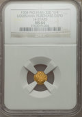 Expositions and Fairs, 1904 Louisiana Purchase Exposition, 1/4 Louisiana Gold, 14 Stars,MS64 NGC. Hendershott-61-320....