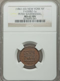 Civil War Merchants, 1863 Broas Pie Baker, New York, MS61 Brown NGC, Fuld-NY630M-2a;Undated Peter Warmkessel, New York, MS62 Brown NGC, Fuld-NY630...(Total: 4 tokens)