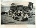 "Books:Prints & Leaves, [Photography]. Erwin E. Smith. Oversized Photograph Reprint of ""TwoCowboys Making a Cinch."" Reproduced from the Collections..."
