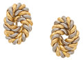 Estate Jewelry:Earrings, White Gold and Gold Earrings. ...