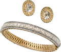 Jewelry, DIAMOND, SILVER-TOPPED GOLD JEWELRY SUITE. ... (Total: 2 Items)