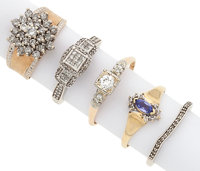 Lot of Diamond, Tanzanite, Gold Rings