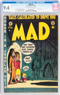 Golden Age (1938-1955):Humor, Mad #1 (EC, 1952) CGC NM 9.4 Off-white to white pages....