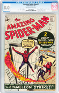 Silver Age (1956-1969):Superhero, The Amazing Spider-Man #1 (Marvel, 1963) CGC VF 8.0 Off-white to white pages....
