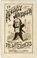 "Books:Americana & American History, [Andrew Johnson] Anti-Johnson Campaign Pamphlet Ye Merry AndrewPranks and Capers Chicago 1866. 3"" x 4.5"". 15 pa..."