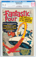 Silver Age (1956-1969):Superhero, Fantastic Four #3 (Marvel, 1962) CGC NM- 9.2 Off-white to whitepages....