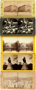Books:Photography, [Photography] Lot of Five Stereo Views Featuring Various 19th Century Scenes. Various sizes and publishers. Generally very g...