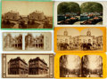 Books:Photography, [Photography] Lot of Six Stereo Cards With French, Swiss, Italian, and Mexican Scenic Views. Various sizes and publishers. G...