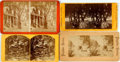 Books:Photography, [Photography] Lot of Four Stereo Cards Featuring Various 19th Century Views. Various sizes and publishers. Generally very go...