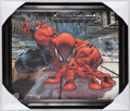Miscellaneous Collectibles:General, Stan Lee Signed Spiderman Canvas Print....