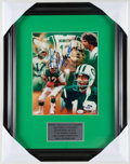 Football Collectibles:Photos, Joe Namath Signed Photograph....