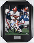 Football Collectibles:Photos, Jim Brown Signed Oversized Photograph....