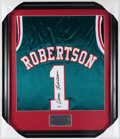 Basketball Collectibles:Uniforms, Oscar Robertson Signed Jersey....