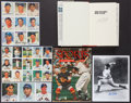 Autographs:Others, Baseball Greats Signed Book, Magazine And Photographs Lot Of 6 (26Signatures)....