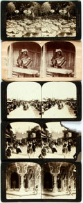 Books:Photography, [Photography] Lot of Five Stereo Cards Featuring Scenes From India, Japan, and China, Circa 1880. Various sizes and publishe...