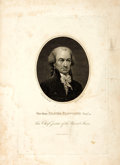"""Books:Americana & American History, Peter Rushton Maverick, engraver. Engraved Portrait of OliverEllsworth After a Painting by John Trumbull, Circa 1850. 7"""" x ..."""