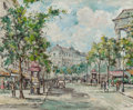 Fine Art - Painting, European:Contemporary   (1950 to present)  , V. GERNON (French, 20th Century). Parisian Street Scene. Oilon canvas. 24 x 29-1/4 inches (61.0 x 74.3 cm). Signed lowe...
