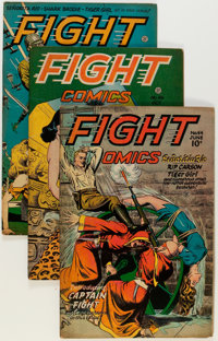 Fight Comics #42, 44, and 46 Group (Fiction House, 1946).... (Total: 3 Comic Books)