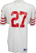 Football Collectibles:Uniforms, 1984-87 Carlton Williamson Game Worn San Francisco 49ers Jersey, MEARS A10....