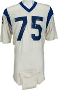 Football Collectibles:Uniforms, 1971 Deacon Jones Game Worn Los Angeles Rams Jersey, MEARS A8....