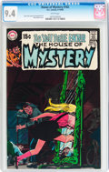Bronze Age (1970-1979):Horror, House of Mystery #182 (DC, 1969) CGC NM 9.4 White pages....