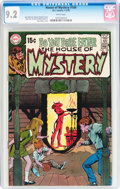 Bronze Age (1970-1979):Horror, House of Mystery #184 (DC, 1970) CGC NM- 9.2 White pages....