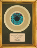 "Music Memorabilia:Awards, Ritchie Valens ""La Bamba"" Gold Record Award (Del-Fi4110, 1958). ..."