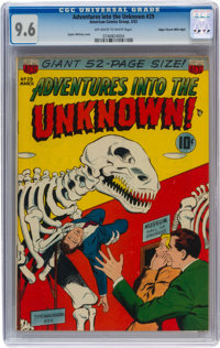 Adventures Into The Unknown #29 Mile High pedigree (ACG, 1952) CGC NM+ 9.6 Off-white to white pages