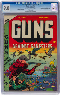 Guns Against Gangsters #5 Mile High pedigree/Double Cover (Novelty Press, 1949) CGC VF/NM 9.0 Off-white to white pages...