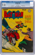 Golden Age (1938-1955):Superhero, Batman #34 (DC, 1946) CGC VF- 7.5 White pages....