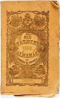 Books:Americana & American History, [Almanac]. Robert Thomas. The Old Farmer's Almanac.Worcester: Z. Baker, 1858. 48 pages. Original wrappers, string-b...