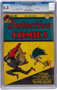 Detective Comics #102 (DC, 1945) CGC FN+ 6.5 White pages
