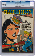 Golden Age (1938-1955):Humor, Four Color #150 Tillie the Toiler - Mile High pedigree (Dell, 1947) CGC NM 9.4 White pages....