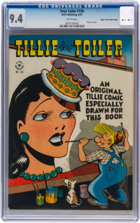 Four Color #150 Tillie the Toiler - Mile High pedigree (Dell, 1947) CGC NM 9.4 White pages