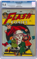 Golden Age (1938-1955):Superhero, Flash Comics #72 (DC, 1946) CGC NM 9.4 Off-white pages....
