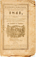 Books:Americana & American History, [Almanac]. Robert Thomas. The Farmer's Almanack for the Year1841. Boston: Jenks & Palmer, [1841]. Original self-wra...