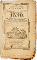 Books:Americana & American History, [Almanac]. Isaiah Thomas. Isaiah Thomas's Town & CountryAlmanack for the Year 1820. Worcester: George A. Trumbull, ...