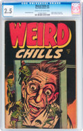 Golden Age (1938-1955):Horror, Weird Chills #2 (Key Publications, 1954) CGC GD+ 2.5 Cream tooff-white pages....