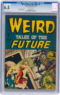 Weird Tales of the Future #1 (Aragon, 1952) CGC FN+ 6.5 Off-white pages
