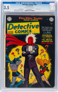 Detective Comics #168 (DC, 1951) CGC VG- 3.5 Off-white to white pages
