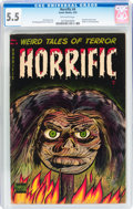 Golden Age (1938-1955):Horror, Horrific #4 (Comic Media, 1953) CGC FN- 5.5 Off-white pages....