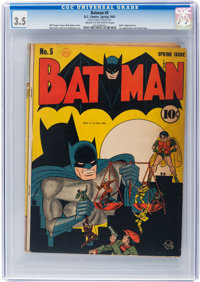 Batman #5 (DC, 1941) CGC VG- 3.5 Cream to off-white pages