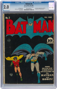 Batman #3 (DC, 1940) CGC GD 2.0 Off-white to white pages