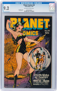 Planet Comics #39 (Fiction House, 1945) CGC NM- 9.2 Off-white to white pages