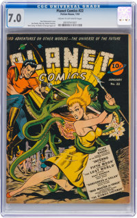 Planet Comics #22 (Fiction House, 1943) CGC FN/VF 7.0 Cream to off-white pages