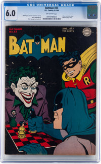Batman #23 (DC, 1944) CGC FN 6.0 Off-white pages