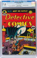 Golden Age (1938-1955):Superhero, Detective Comics #63 (DC, 1942) CGC FN/VF 7.0 Cream to off-white pages....